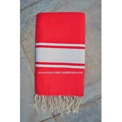 Tunisian fouta towel flat texture