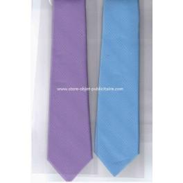 Cravate fine couleurs